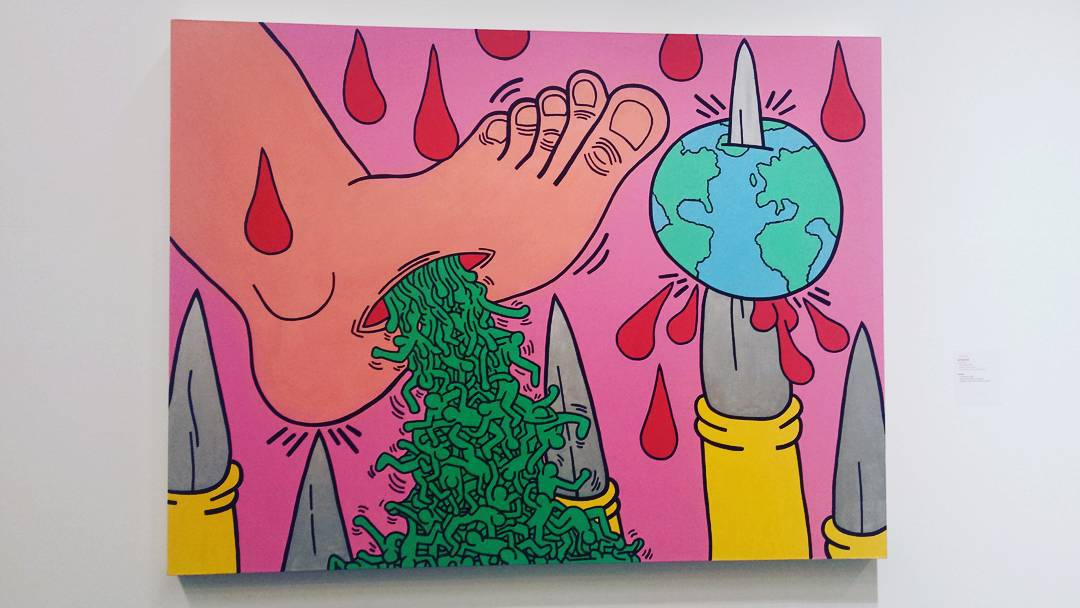 Things to do in Rotterdam, Art in Rotterdam, #rotterdam, #keithharing, the politica line Keith haring, kunsthal