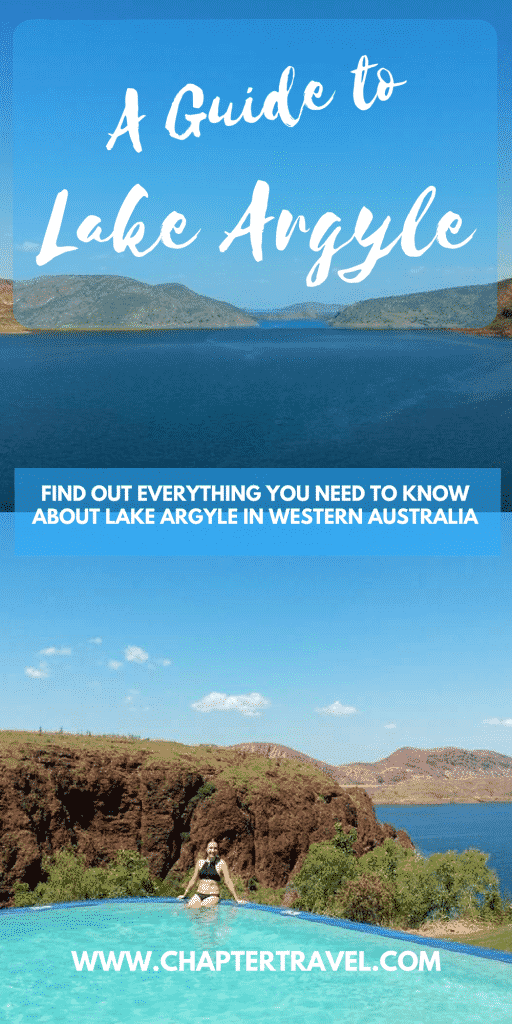 Lake Argyle in Western Australia is definitely worth a visit! It's a bit of a unknown gem, but you pass it when you travel by car from Kununurra to Darwin or vice versa. It's located right on the border of Western Australia and Northern Territory.