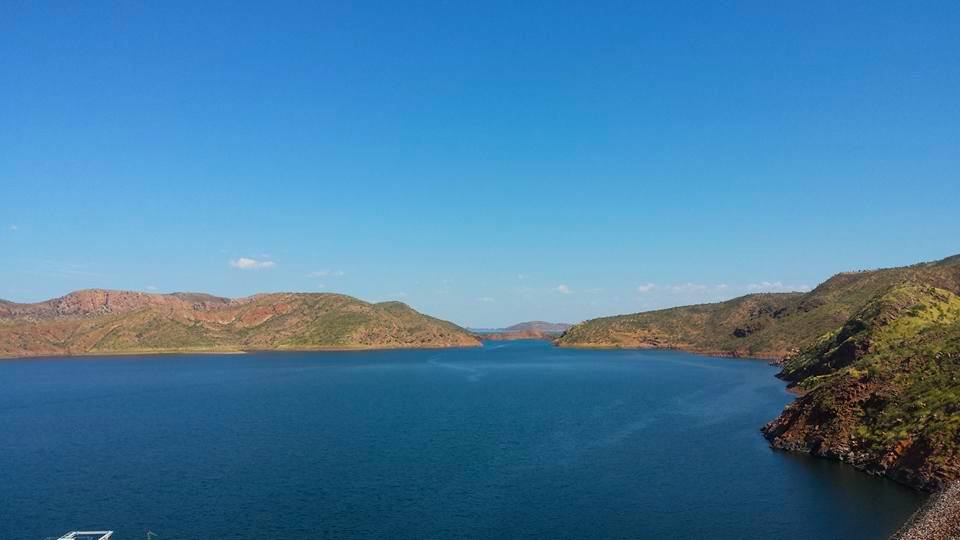 Amazing view over Lake Argyle in the Kimberley Region, Western Australia. The perfect place to relax. An easy visit from Kununurra, Katherine Gorge or Halls Creek.