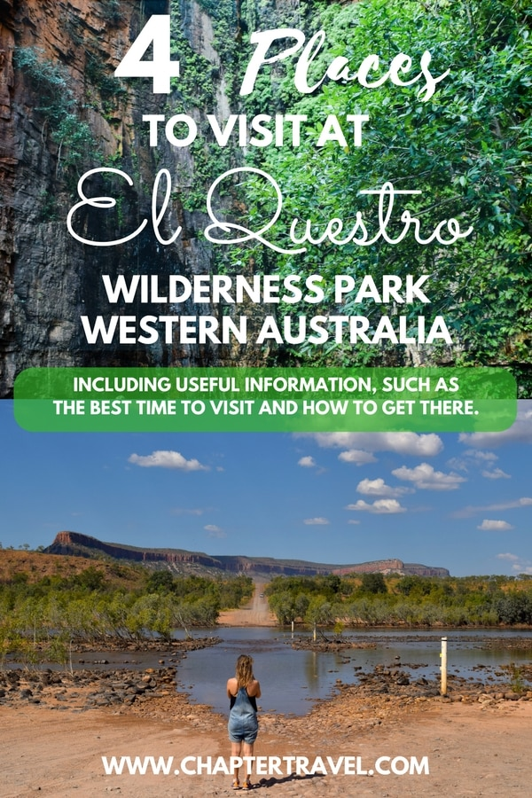 El Questro Wilderness Park is a beautiful place in Western Australia. In this post you can find places to visit such as El Questro Emma Gorge, Zebedee Thermal Hot Springs and the Gibb River Road. Also, I share the best time to visit El Questro Wilderness Park and how to get to El Questro. #ElQuestro