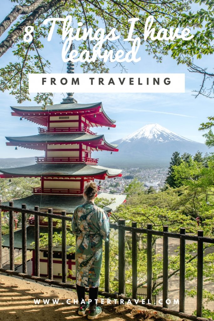 Things I have Learned from Traveling, chureito pagoda, Mount Fuji, Japan, Lessons from traveling,
