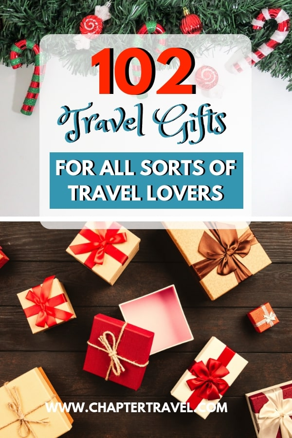 With Christmas on the way it's time to buy your friends and families gifts! Do you have a travel lover that you want to surprise with a perfect travel gift? Then check out this article with 102 travel gifts for travel lovers! It has something for every type of traveler! #Christmas #Travelgifts #giftguide