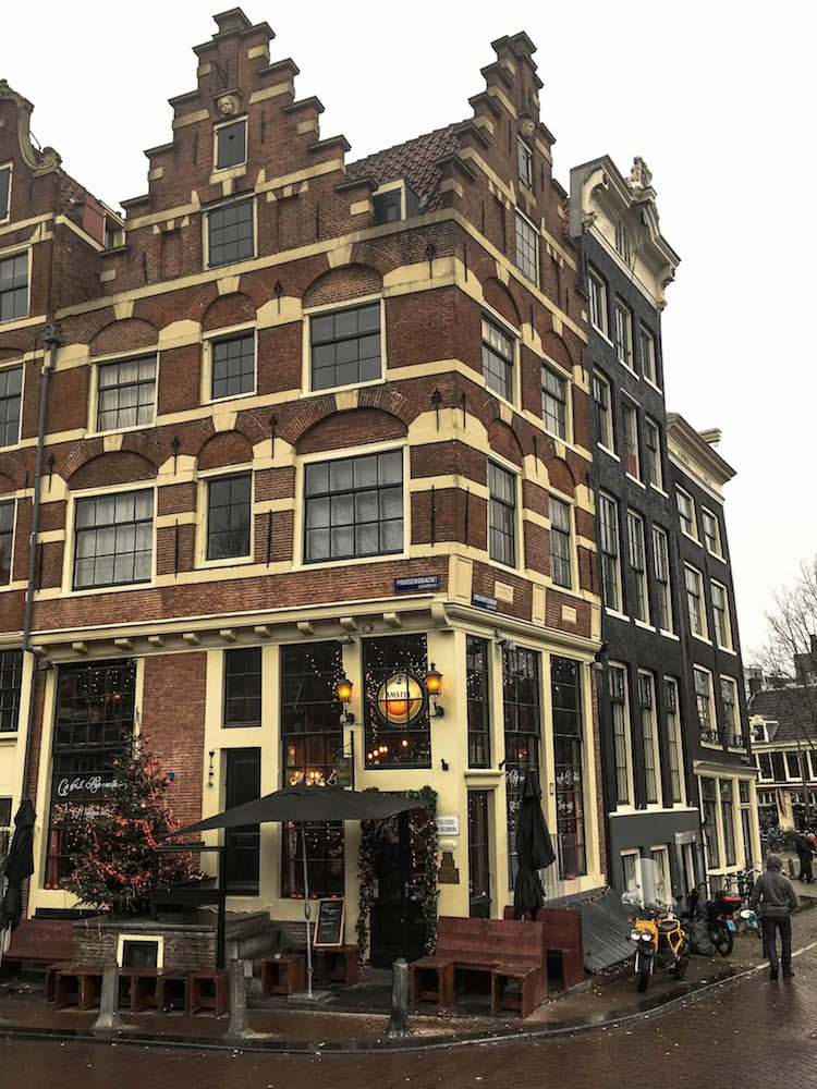 Papeneiland cafe is a famous place to take photos. Instagram spot in Amsterdam