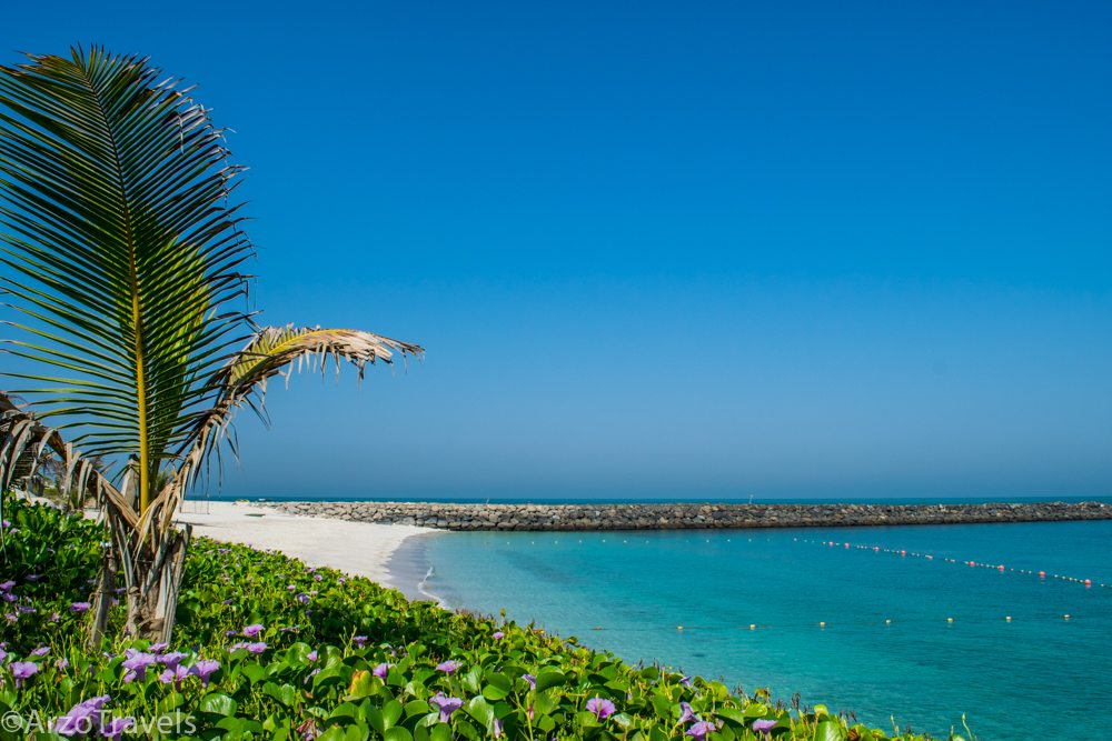 Located on Zaya Nurai Island, a private island close to Abu Dhabi mainland accessible via a 12-minute boat ride, the island is a quiet place where all guests have their own private beach section and their own private pool.