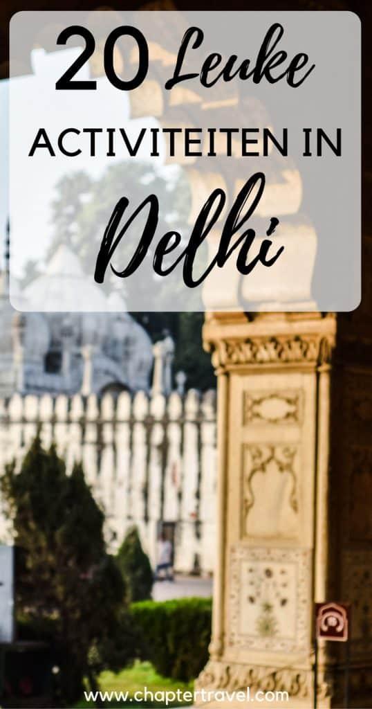 Ben je op zoek naar inspiratie voor je bezoek aan Delhi? In dit artikel delen we 20 leuke uitjes in Delhi, zoals de Old Delhi Heritage Walk, de Lotus Tempel, Old Delhi Street Tour, Swaminarayan Alshardham en veel meer tempels en mooie culturele plekken. Verder delen we een goed budget hotel in Delhi en een paar restaurantjes in Delhi.