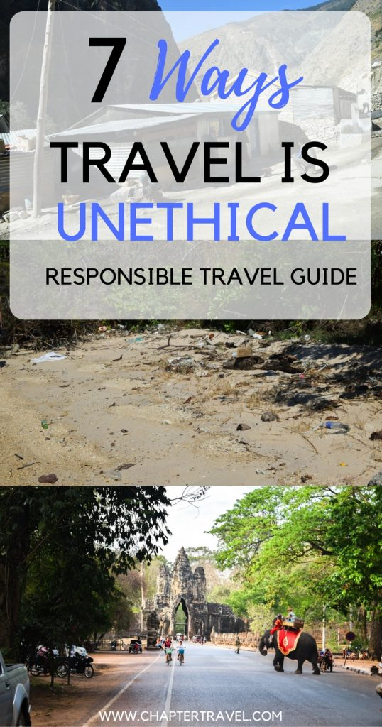 In this article we discuss responsible travel and how travel can be unethical.