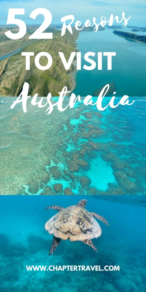 In this post you can find 52 reasons to visit Australia!