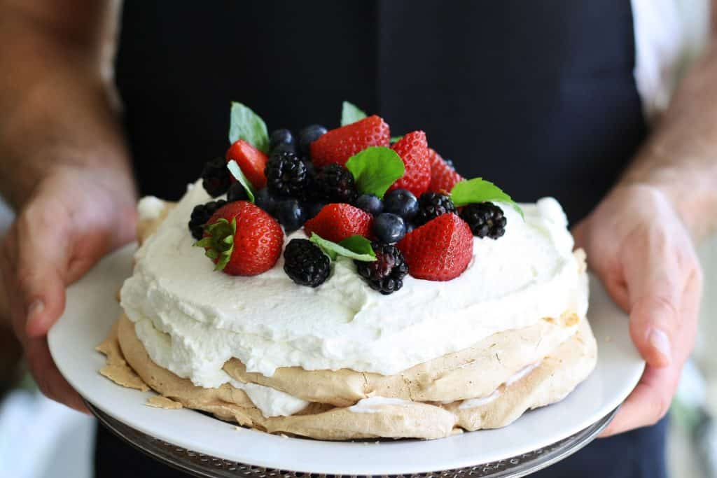 There are a lot of typical Australian snacks and food. One of them is the Pavlova