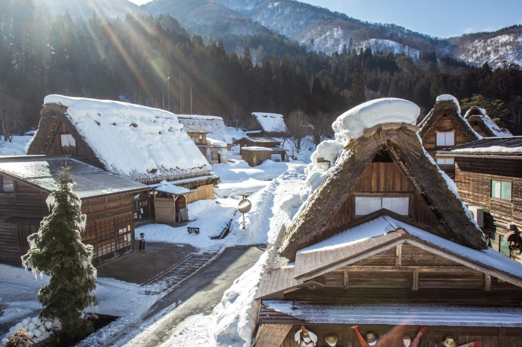 Shirakawa-go and neighbouring Gokayama are located in the remote mountains of Japan. It's a UNESCO world heritage site and have the famous traditional gassho-zukuri farm houses, from which some are more than 250 years old.