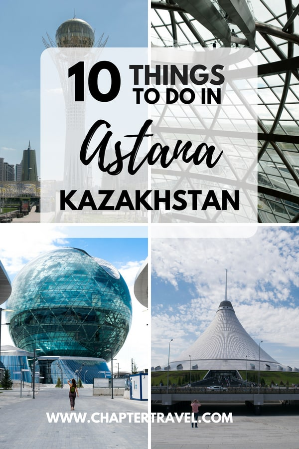 Check out these 10 things to do in Astana, the capital city of Kazakhstan. It's a very futuristic city with lots of skyscrapers and modern architectural structures. Astana is also a very multicultural city, meaning there are a lot of restaurants with a lot of international cuisines. This post also includes where to stay in Astana and where to eat in Astana. #Astana #Kazakhstan #CentralAsia
