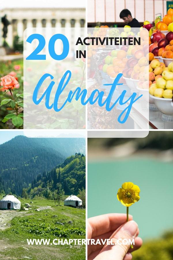 Ben je op zoek naar dingen om te doen in Almaty? In deze post deel ik enkele hoogtepunten, maar ook andere interessante, minder bekende plaatsen in Almaty om te bezoeken. Dit artikel bevat veel bezienswaardigheden in Almaty, van een dagje naar Big Almaty Lake of Aksay Gorge, naar verschillende interessante musea in het centrum van Almaty. Van feesten en drinken in bars tot het eten van traditionele beshbarmak.