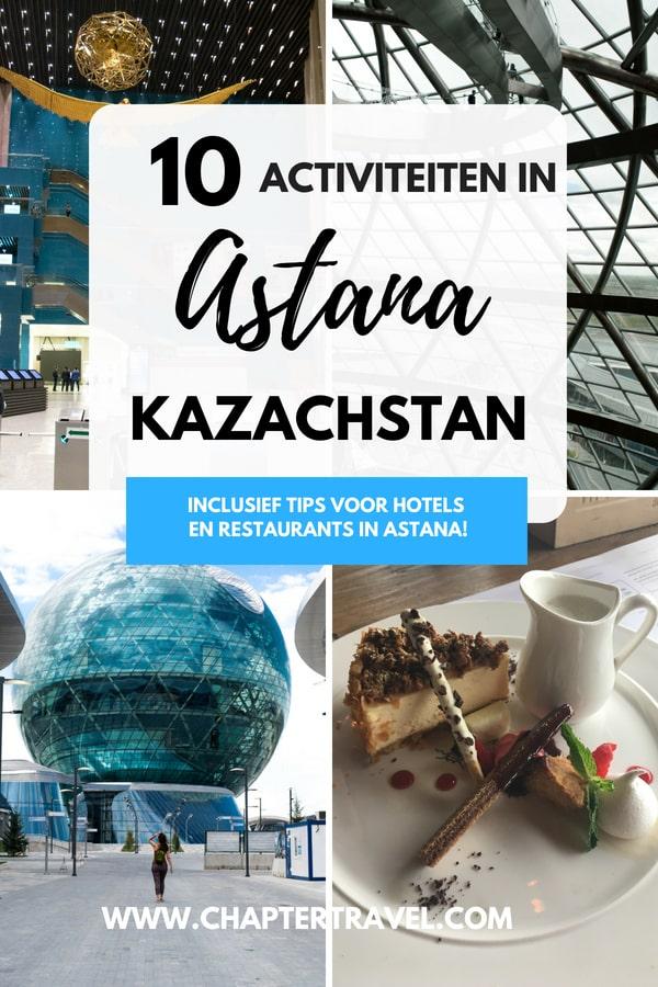 Astana is de nieuwe hoofdstad van Kazachstan. In dit artikel kun je 10 activiteiten in Astana vinden en tips voor waar te eten en slapen. #astana