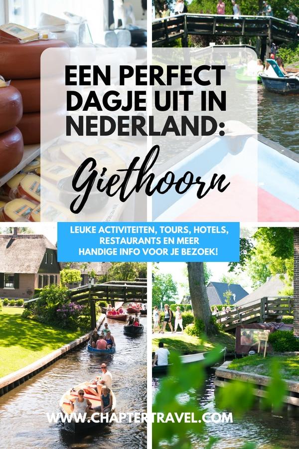 Ben je op zoek naar een leuk uitje in Nederland? Even een dagje weg? Ga dan eens naar het prachtige dorpje Giethoorn, ook wel Venetië van het Noorden genoemd. In dit artikel vind je leuke activiteiten in Giethoorn en veel meer! #Giethoorn #Nederland