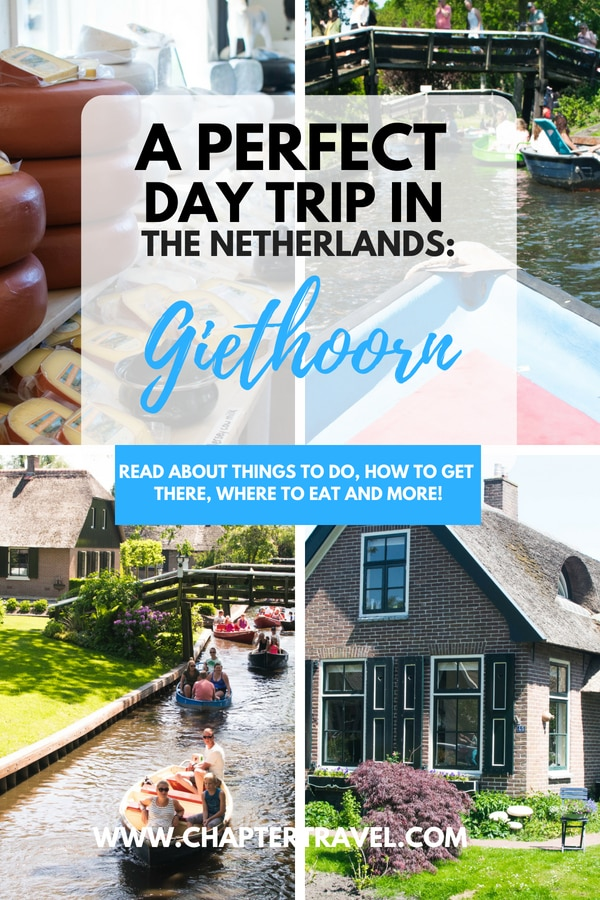 Are you looking for a great day trip in the Netherlands? Then definitely consider visiting the fairytale town of Giethoorn, where there are no cars, but only canals, boats, bridges and adorable houses! Giethoorn can easily be reached from the big Dutch cities such as Amsterdam, Rotterdam, Utrecht and so forth. A day trip in Giethoorn should at least include boating, enjoying some Dutch snacks and of course taking lots and lots of photos... #Giethoorn #Daytrip #TheNetherlands