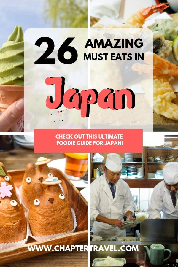 Are you a real foodie going on a trip to Japan? Lucky you! There is so much delicious food to try in Japan. For this ultimate foodie guide to Japan I asked other travel bloggers for their recommendations on what to eat in Japan. In this post you can find 26 things you must eat in Japan! It includes a few vegetarian options as well, which can be a bit of a struggle in Japan! #japan #musteat #japanmusteat #japanfoodie