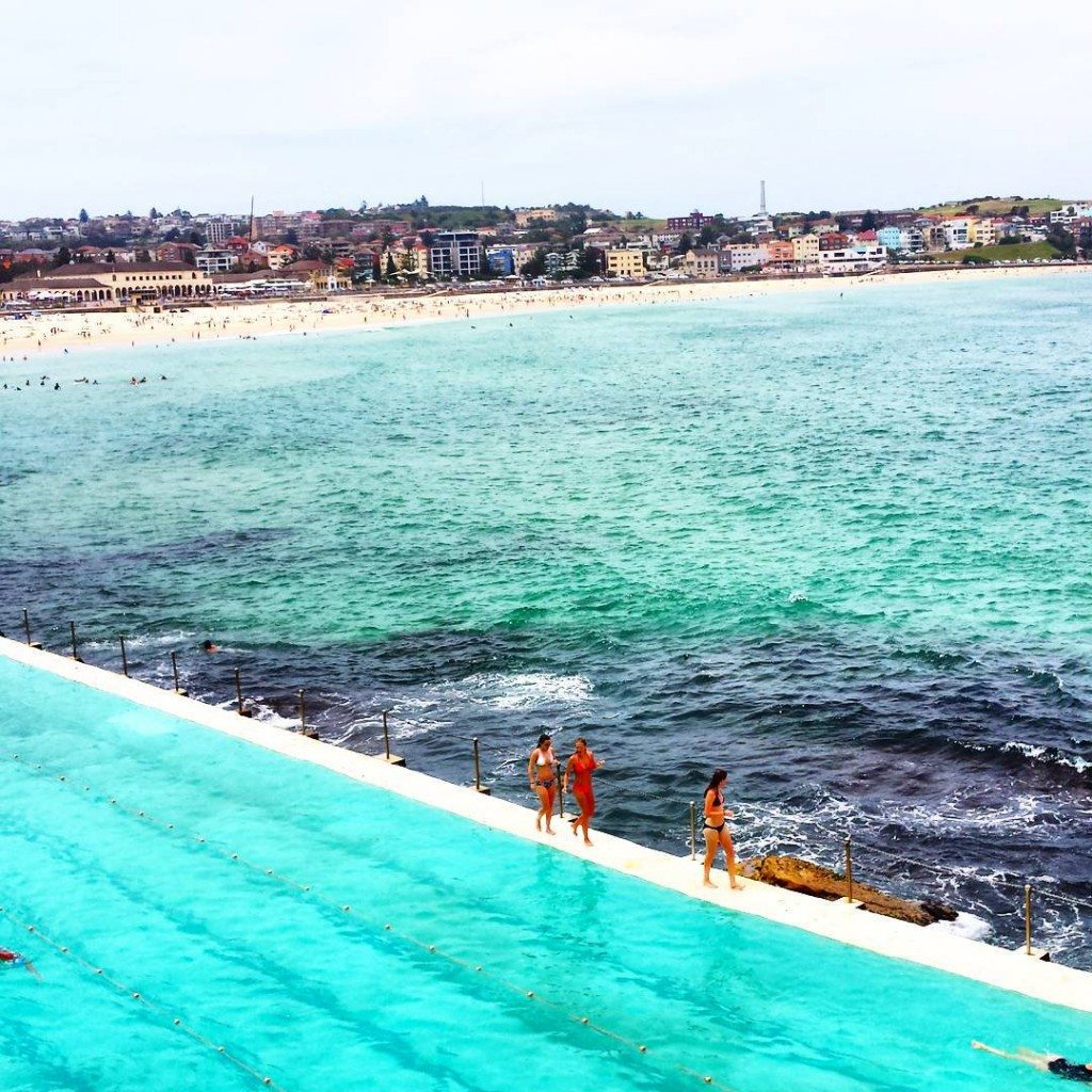Bondi Beach in Sydney with the incredible Bondi Baths
