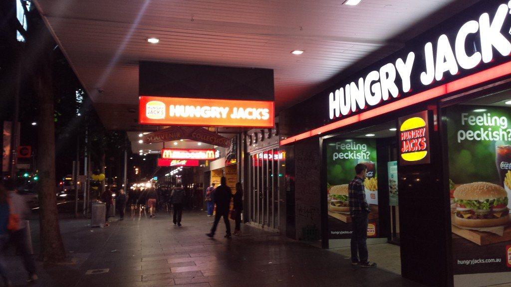 Macdonalds, Burger King, Maccas, Hungry Jacks, Melbourne