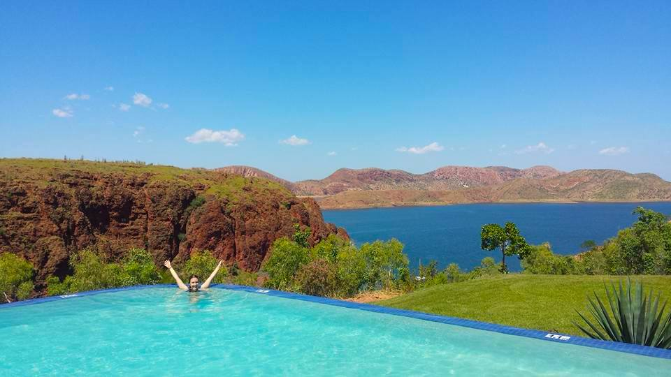 Lake Argyle, happy, backpacker, Lake Argyle Resort, backpacking, traveling, Australia, Kimberley, The Kimberley Region, Outback, Kununurra, Jewel of the Kimberley, CHAPTERTRAVEL