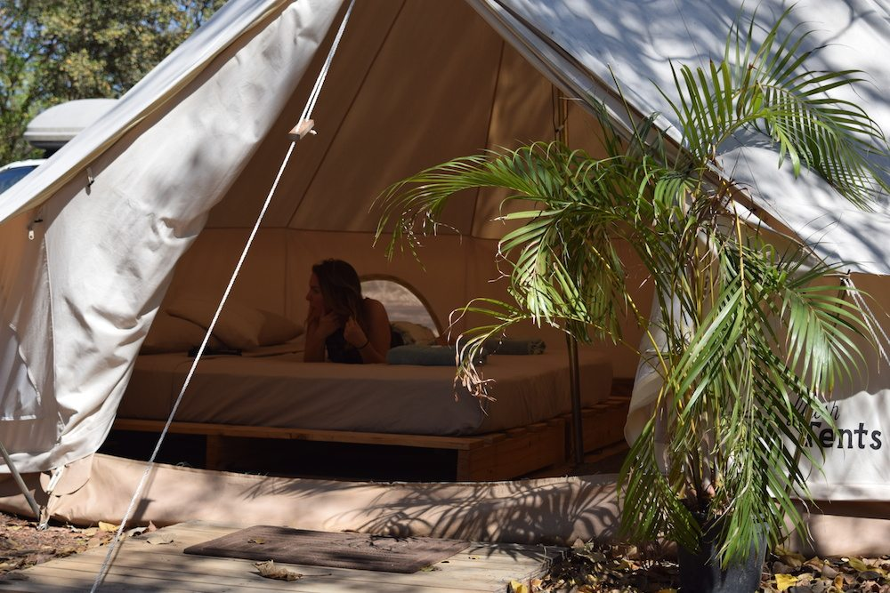Our very own flash tent in Australia