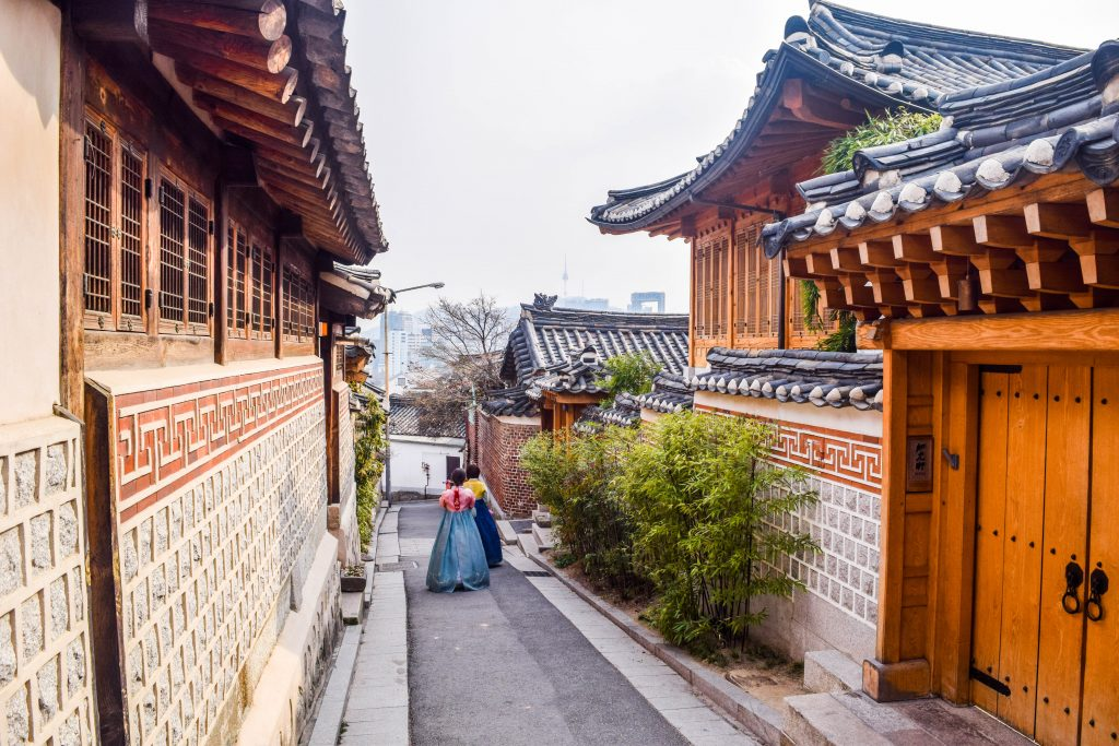 Bukchon Hanok Village is another very Instagrammable spot in Seoul. This village is full of Korean traditional houses and is amazing to walk around.
