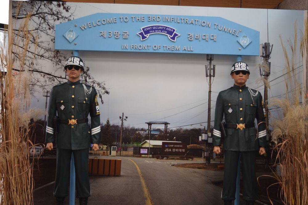 DMZ, North Korean Border, View over North Korea, Dorasan observatory, the third tunnel of aggression