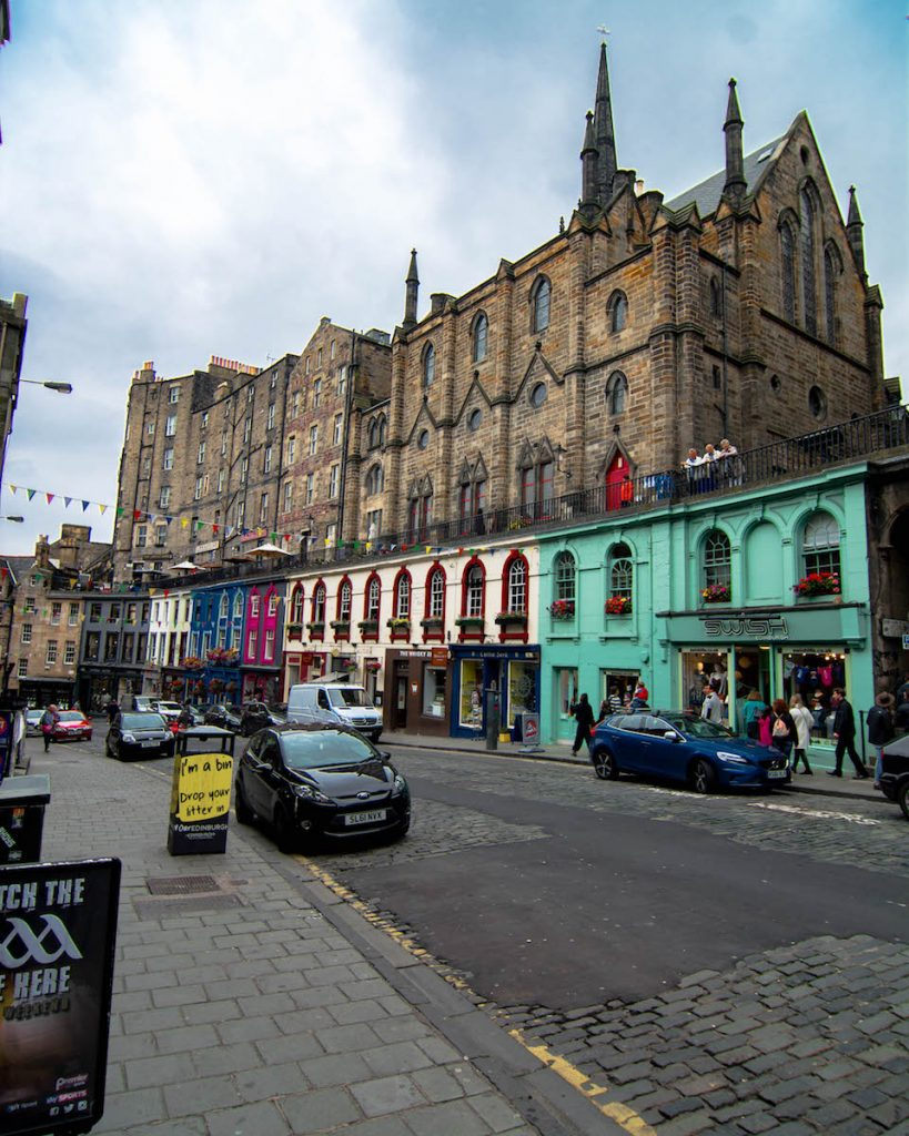 Victoria Street Edinburgh, Edinburgh Castle, Travel Itinerary for a 9 day Road Trip in Scotland, Free camping in Scotland, Road trip in Scotland, Scottish Highlands, Road Trip Isle of Skye, Isle of Skye, Edinburgh, Glasgow, Fort Williams, Glencoe, Point Neist, free camping in Scotland