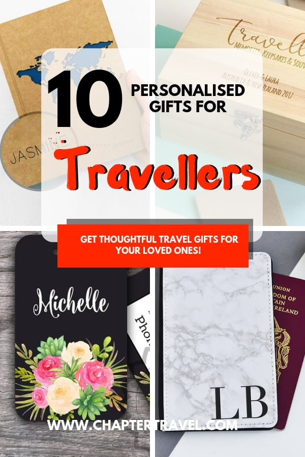 Looking for the perfect travel gift? What about a personalised present? It's a thoughtful and meaningful way to show that you care! In this post I share 10 personalised gifts for travellers. #Christmas #holidays #personalised #giftguide