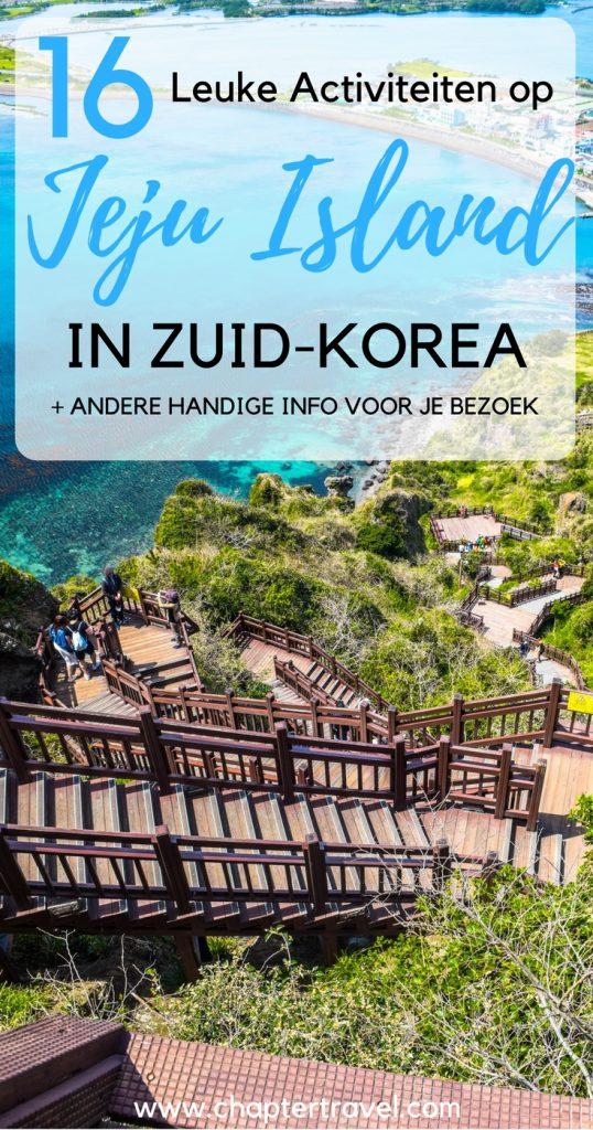 In dit artikel vind je leuke activiteiten op Jeju Island in Zuid-Korea, zoals het beklimmen op Mount Hallasan en andere mooie hikes, culturele activiteiten en meer!