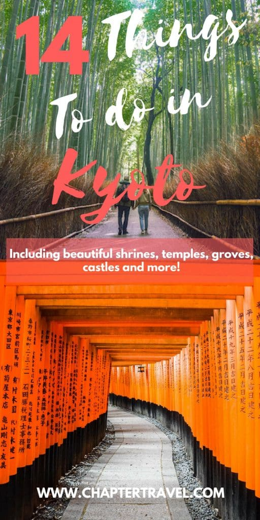 Find 14 fun things to do in Kyoto, Japan! Think about temples, shrines, gardens, castles and more!