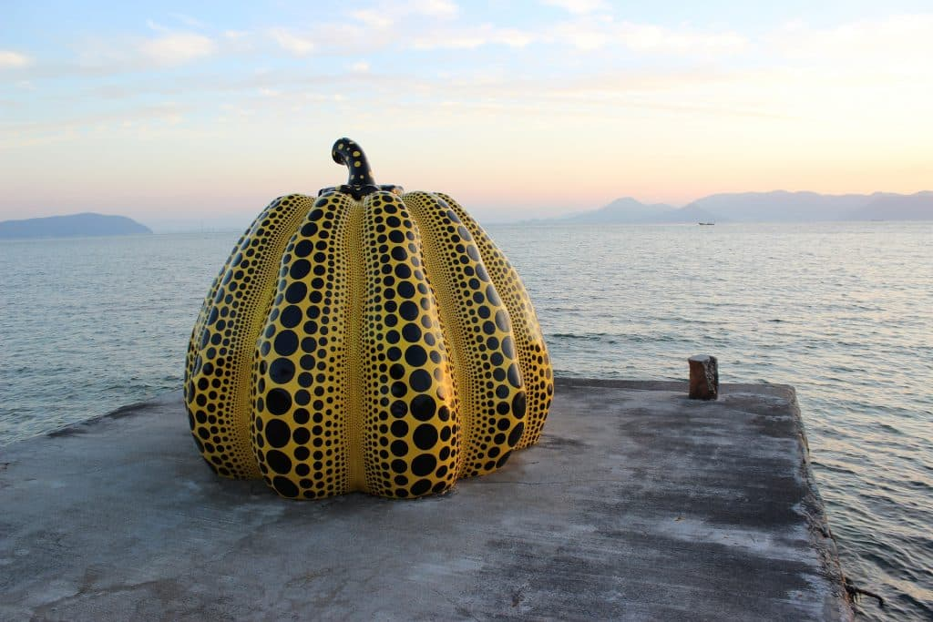 If you're looking for a unique, artsy place in Japan, visit the fantastic art island Naoshima. It's located on Shikoku, one of 4 major islands in Japan.