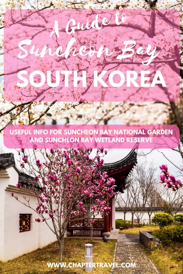 Visit the beautiful Suncheon Bay National Garden and Suncheon Bay Wetland Reserve in South Korea. It's a beautiful off the beaten track destination in South Korea which is definitely worth a visit.