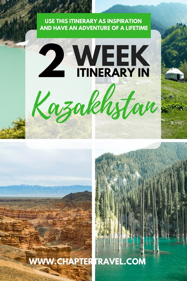 Use this two week itinerary for Kazakhstan as an inspiration for your trip to this enormous country in Central Asia. Kazakhstan has some amazing locations, such as Charyn Canyon, Kaindy Lake, Kolsai Lakes, Big Almaty Lake, Altyn-Emel National Park, The Singing Dune, Turkestan and much more.