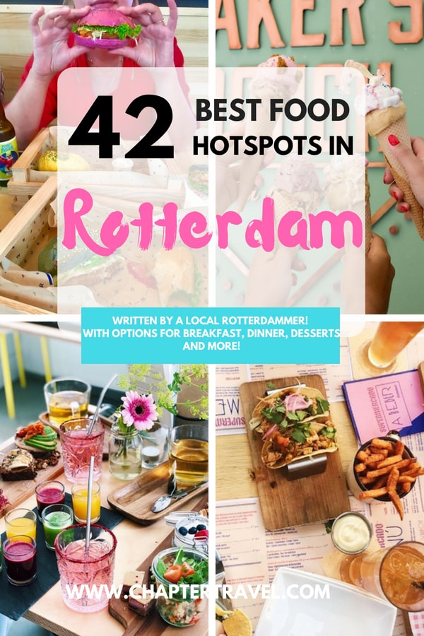 In this post you can find the 42 best food hotspots in Rotterdam, the Netherlands! With some great options for breakfast, dinner and desserts. Also some amazing vegan hotspots in Rotterdam. Enjoy! #Vegan #Foodhotspots #Foodie #Rotterdam