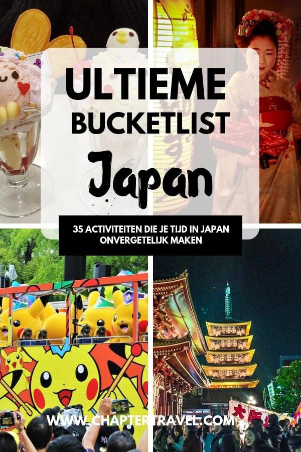 Er zijn zoveel leuke dingen om te doen in Japan! We hebben verschillende reisbloggers gevraagd om hun ultieme bucketlist-ervaringen in Japan te delen. In dit artikel kun je 35 ervaringen uit Japan vinden die een onvergetelijke reis zullen maken! #Japan #JapanBucketList #Wanderlust